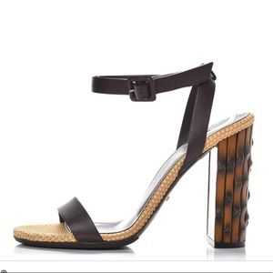 Gucci bamboo heel Lifford shoes in cocoa 34.5